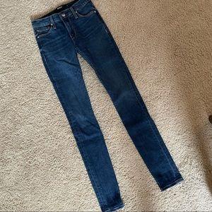 Hudson Denim High Waisted Skinny Jeans